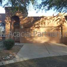 Rental info for Great Property in Mesquite Creek II with Mountain Views in the Tucson area