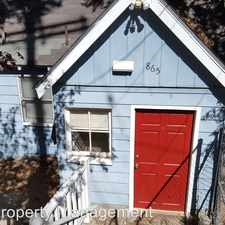 Rental info for 865 High Rd