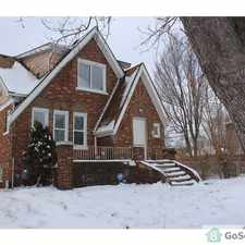 Rental info for Earlybird Special. Just finishing renovation. Big Corner House in the Detroit area