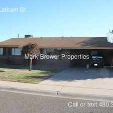 Rental info for 6743 E Latham St in the Scottsdale area