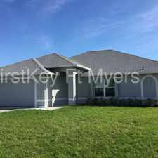 Rental info for Beautiful New Build in the Cape Coral area