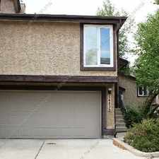 Rental info for *** CHARACTER TOWNHOUSE WITH DBLE ATTACHED GARAGE IN RAMSAY HEIGHTS *** in the Ramsay Heights area