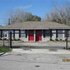 Rental info for Charming gated complex has Two (2) duplexes that sit in a quiet secure neighborhood. The property is located 2 blocks from bus line, shopping center, banking and restaurants. Perfect for a mother with a small family or Senior Citizen. in the Houston area