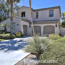 Rental info for 11723 GLOWING SUNSET LANE in the Summerlin South area