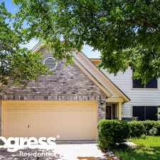 Rental info for 8003 Coco Meadow Dr in the Converse area