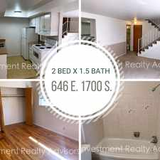 Rental info for Spacious 2 Bedroom in Central Salt Lake City! in the Liberty Wells area