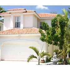 Rental info for GORGEOUS CORAL SPRINGS RENTAL in the Coral Springs area