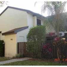 Rental info for townhone in desireable coconut creek in the Margate area