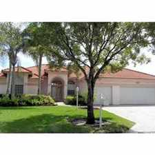 Rental info for Gorgeous Coral Springs pool home in the Coral Springs area