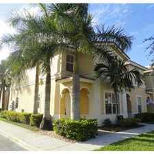 Rental info for MONARCH LAKES GORGEOUS TOWNHOME in the Miramar area