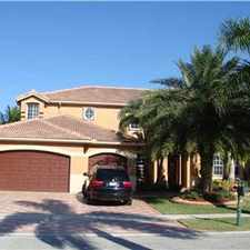 Rental info for STUNNING LAKEFRONT POOL HOME IN SUNSET LAKES in the Pembroke Pines area