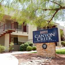 Rental info for Canyon Creek Apartment Homes in the Tucson area