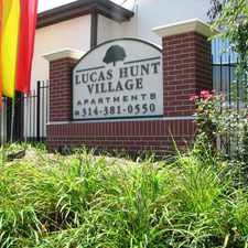 Rental info for Lucas Hunt Village in the St. Louis area