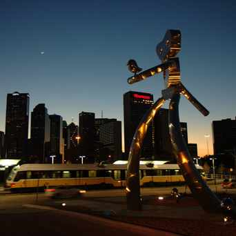 Photo of Traveling Man Sculpture in Deep Ellum, Dallas