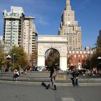 Photo of Union Square Park in Greenwich Village, New York