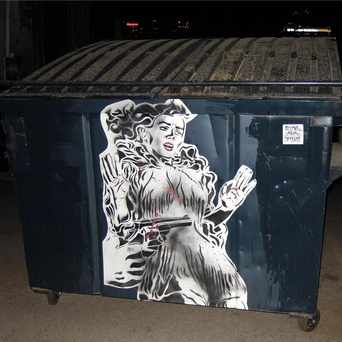 Photo of Dumpster stick up in Downtown, Phoenix