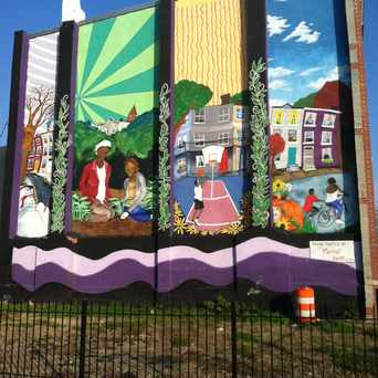 Photo of Mural On Hunter Street in Barclay, Baltimore