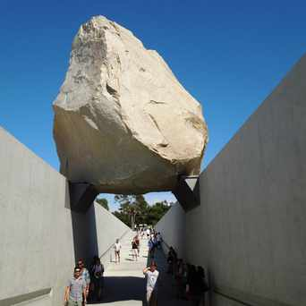 "Photo of Sculpture ""Levitated Mass"" in Mid-City West, Los Angeles"
