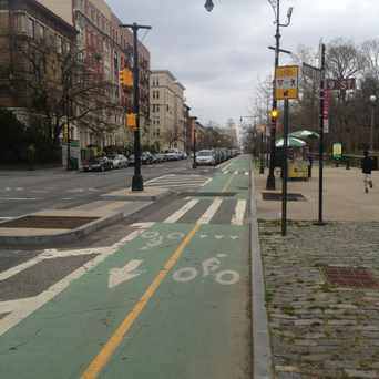 Photo of Parking Separated Bike Lanes in Park Slope, New York