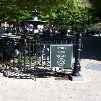 Photo of Father Demo Square in West Village, New York