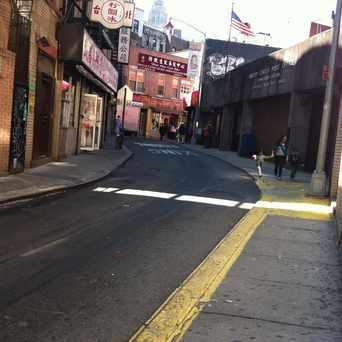Photo of Doyers Street in Chinatown, New York