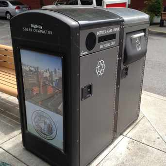 Photo of Coolest solar powered garbage cans in Pearl, Portland