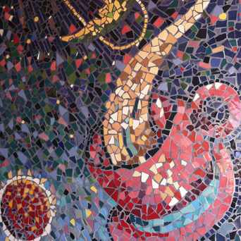 Photo of Outdoor Mosaic at Satellite Coffee Nob Hill in Nob Hill, Albuquerque