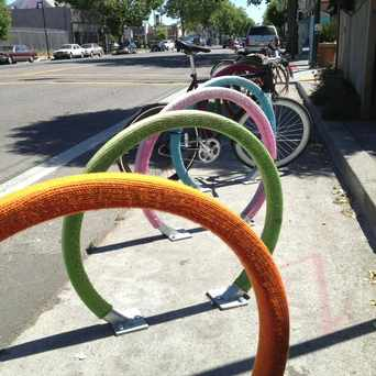 Photo of Telegraph Avenue Bicycle Racks in Temescal, Oakland