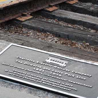 Photo of Historic Street Car Tracks, Dilworth, Charlotte, NC in Dilworth, Charlotte