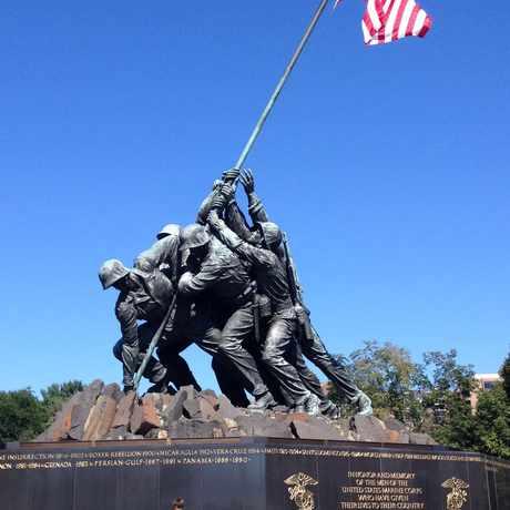 Photo of US Marine Corps War Memorial in Arlington
