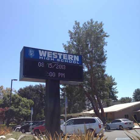 Photo of Western High School in West Anaheim, Anaheim