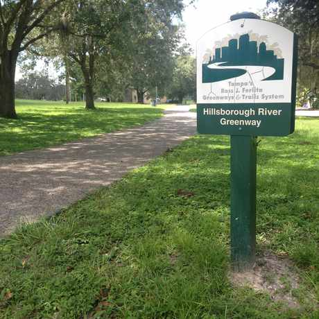 Photo of Walking Path In Rivercrest Park in South Seminole Heights, Tampa