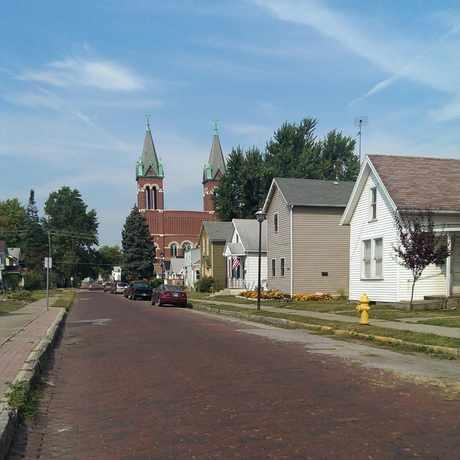 Photo of Cobblestone Street in Bloomingdale, Fort Wayne