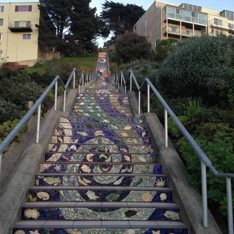 Photo of Mosaic Stairway in Golden Gate Heights, San Francisco
