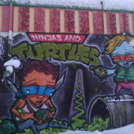 Photo of Ninjas And Turtles Mural in Whittier, Minneapolis