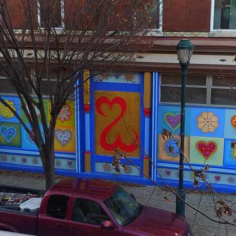 Photo of Open Hearts Mural in Rittenhouse Square, Philadelphia