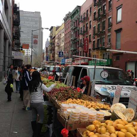 Photo of Street Market in Chinatown, New York