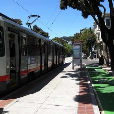 Photo of Duboce Ave & Church St in Duboce Triangle, San Francisco