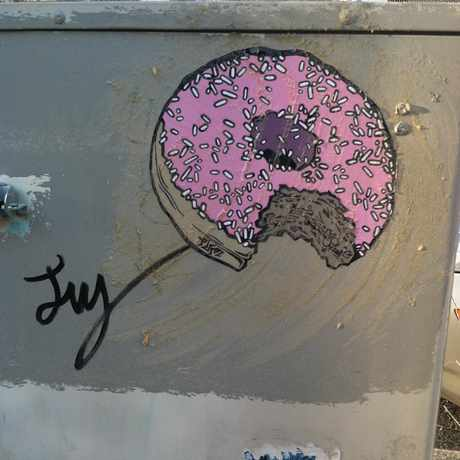 Photo of Donut Tag On Electrical Box in Lowry Hill East, Minneapolis