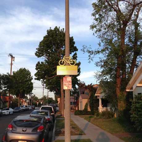 Photo of Bike Boulevard Vista Street in Eastside, Long Beach