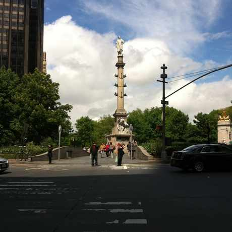 Photo of Columbus Circle Statue in Theater District, New York