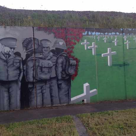 Photo of Outdoor War Mural in Esther Short, Vancouver