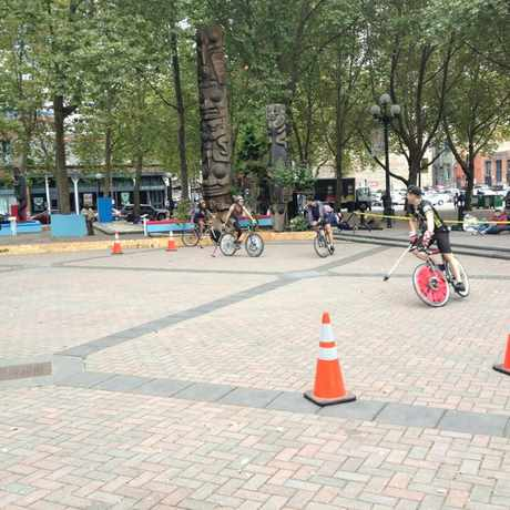 Photo of Occidental Park in Pioneer Square, Seattle