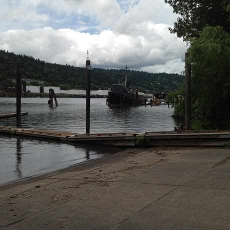 Photo of Boats On The Channel in Cathedral Park, Portland