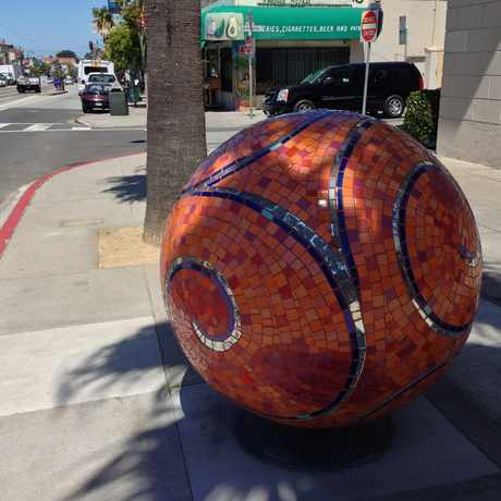 Photo of Big Orange Sparkly Ball in Westwood Park, San Francisco