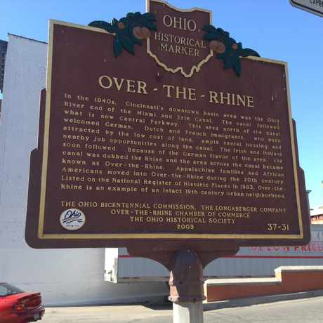 Photo of Ohio Historical Marker-Over The Rhine in Cincinnati