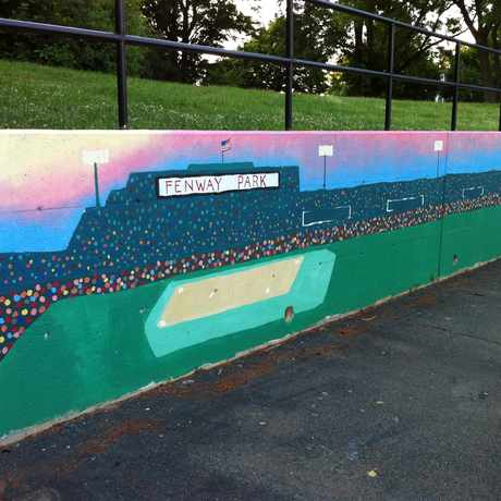 Photo of McKinney Park Mural in Oak Square, Boston