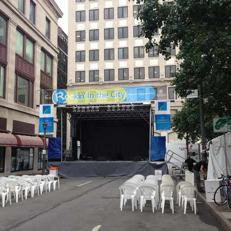 Photo of Gibbs St. (stage) a.k.a. Jazz Street during the Jazz Festival in Rochester