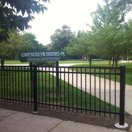 Photo of Gwendolyn Brooks Park in Bronzeville, Chicago