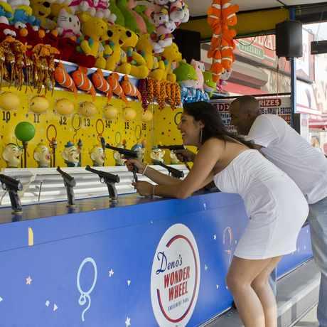 Photo of Deno's Wonder Wheel Amusement Park in Coney Island, New York